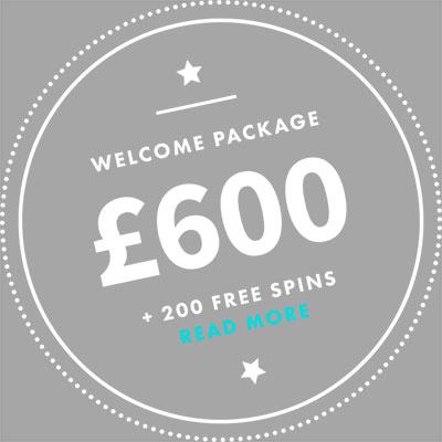 6000 kr i Casino Bonus + 200 Free Spins