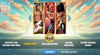 Bonus at Guns n' Roses Slot