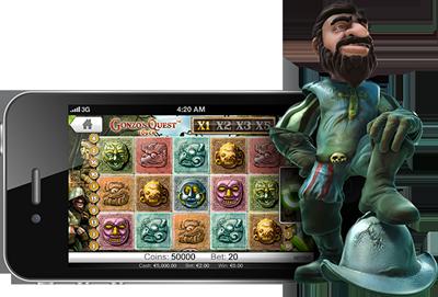 Gonzo's Quest i mobilen