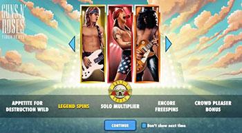 Bonus at Guns n' Roses Slot