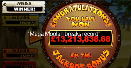 Record on Mega Moolah