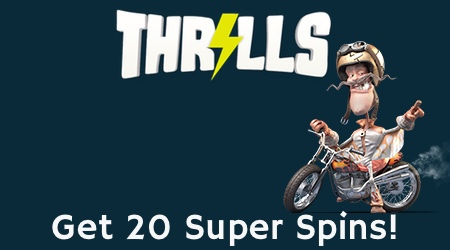 Get 20 Super Spins at Thrills