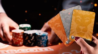 Collect bonus cards at LeoVegas Casino's Blackjack tables!